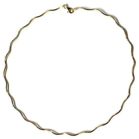 Gold Wavy Necklace