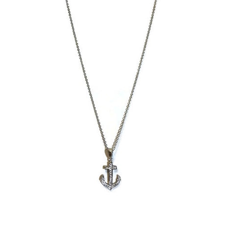 Anchor CZ Necklace