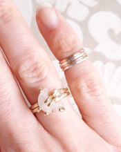 Solid Gold Moon and Star Stacking Ring Set