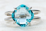 Sky Blue Topaz and Sterling Silver Ring *As Seen in British Glamour Magazine*
