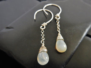 Natural Welo Opal Dangle Earrings