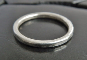 Simple 2mm Sterling Silver Band