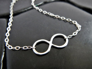 Sterling Silver Infinity Necklace - Infinity Sign - Delicate Silver Necklace - Gift for Girlfriend - Gift for Her - Eternity Necklace