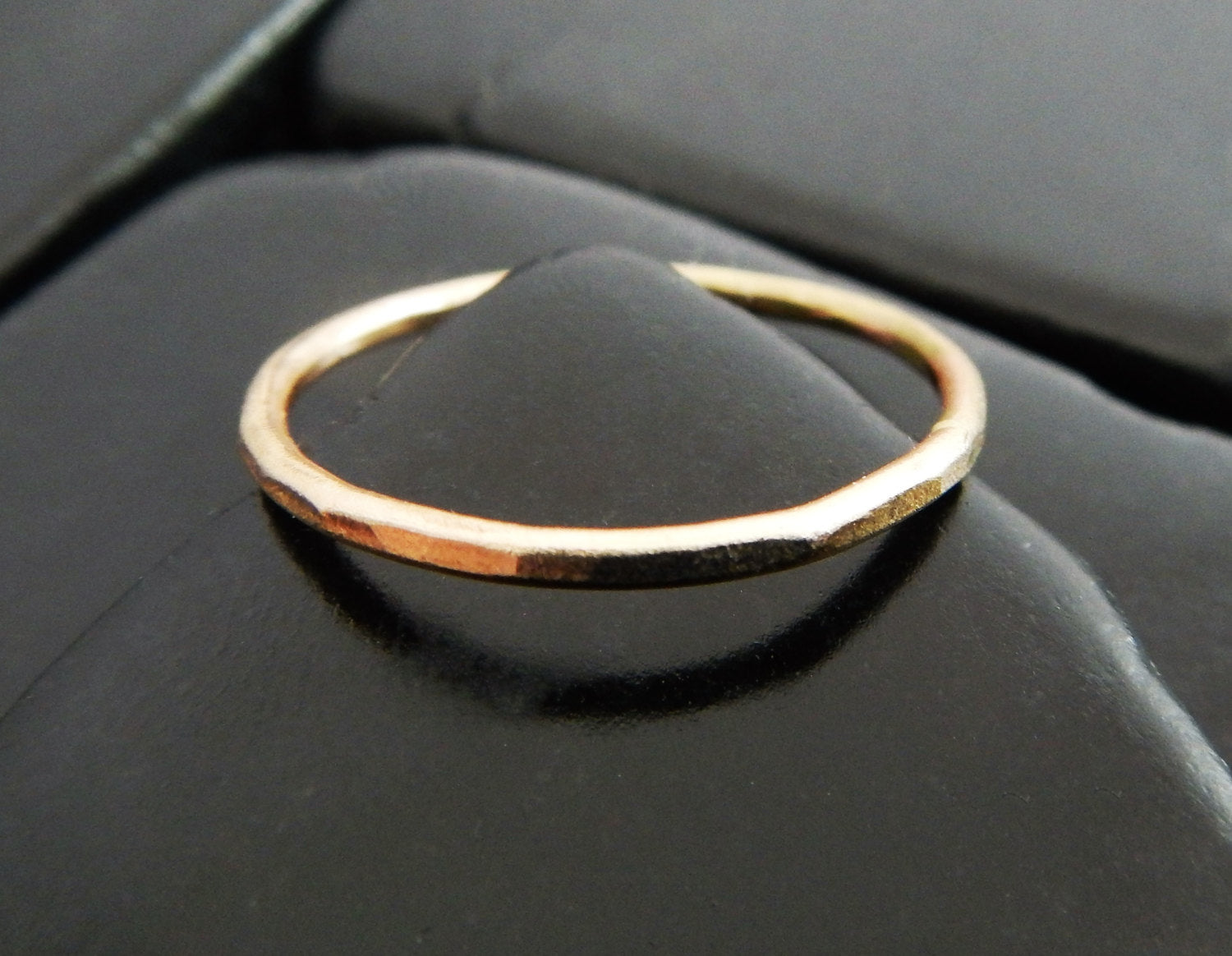 Yellow Gold Band Simple Gold Ring Gold Stacking Ring Gold Fill