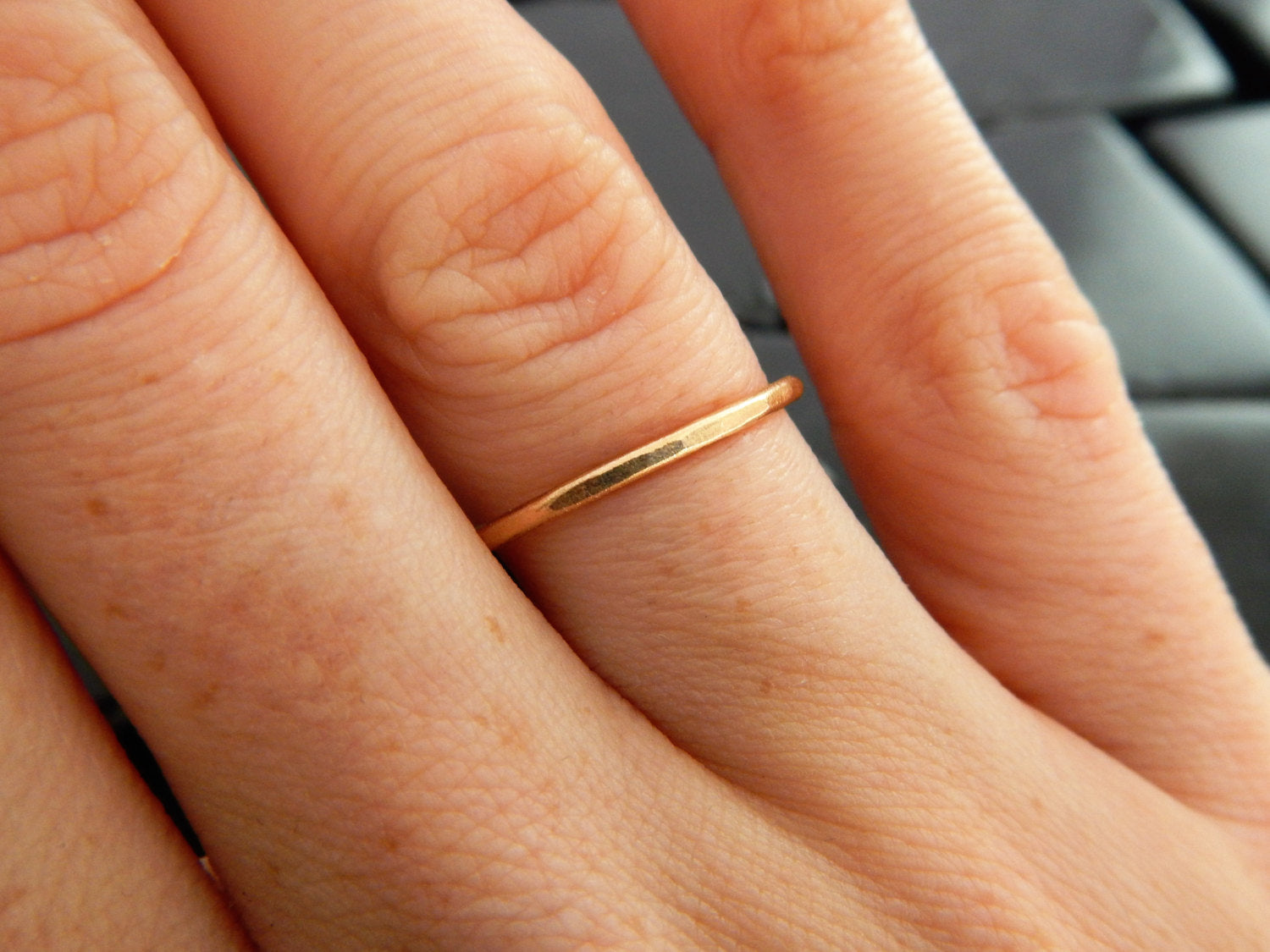 wedding fullxfull band gold plain simple bands hammered yellow products ring fill il stacking ores