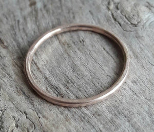 Simple Hammered Rose Gold Fill Ring