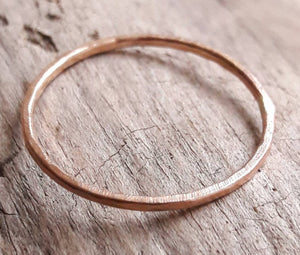 Delicate 1mm Rose Gold Stacking Ring