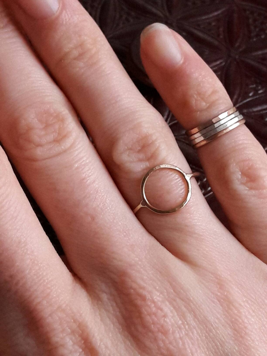 Yellow Gold Circle Ring – Gaia\'s Candy