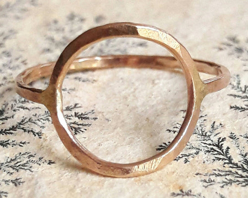 Yellow Gold Circle Ring