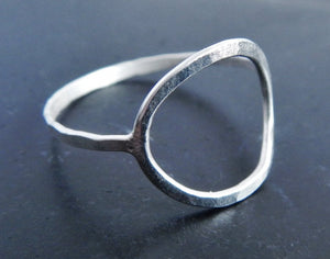 Sterling Silver Open Circle Ring