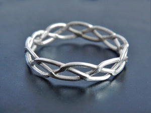 Celtic Braided Sterling Silver Ring