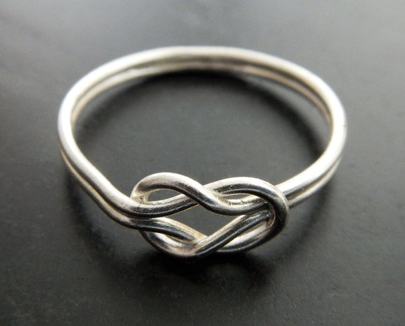 Sterling Silver Celtic Knot Promise Ring