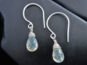 Wire-Wrapped Ethiopian Welo Opal Drop Earrings