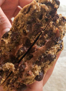 NEW - Gluten Free, Vegan Gooey Truffle Filled Chunky Cookies