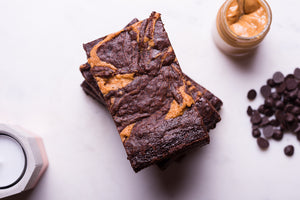 Peanut Butter Chocolate Brownies - Vegan, Gluten, Dairy & Soya Free