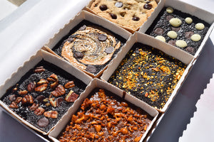 Brownie Bites - Gluten, Dairy, Soya Free & Vegan - Box of 12 - Mix & Match