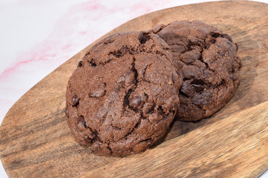 NEW - Chunky Double chocolate chip cookies - Vegan & soya free
