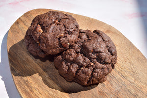 NEW - Chunky Double chocolate chip & pecan cookies - Vegan & soya free