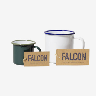 Falcon, Emaille Mini Tasse Grün