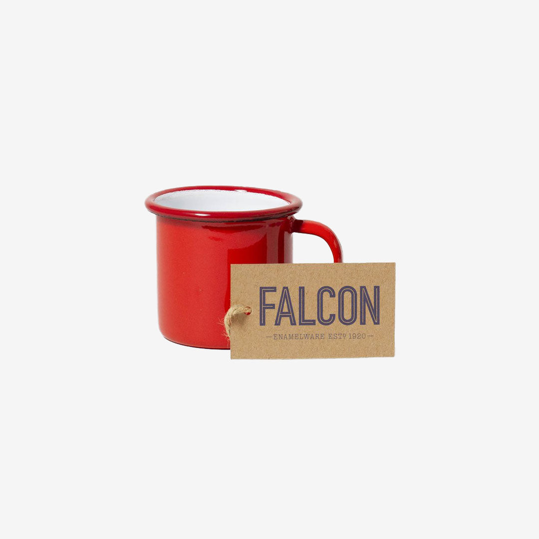 Falcon, Emaille Mini Tasse Rot