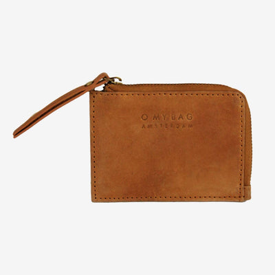 O MY BAG Coin Purse, camel, Leder