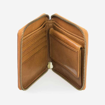 O My Bag, Damen Geldbörse, Sonny Square Wallet Cognac