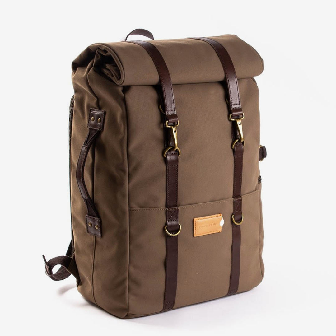 Property of Rucksack, Karl 48H Travel Backpack, olive brown, braun