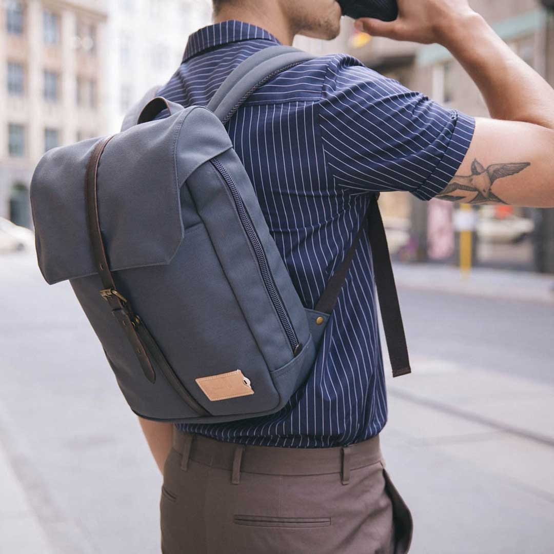Property of Rucksack, Charlie 12h Backpack, stone blue