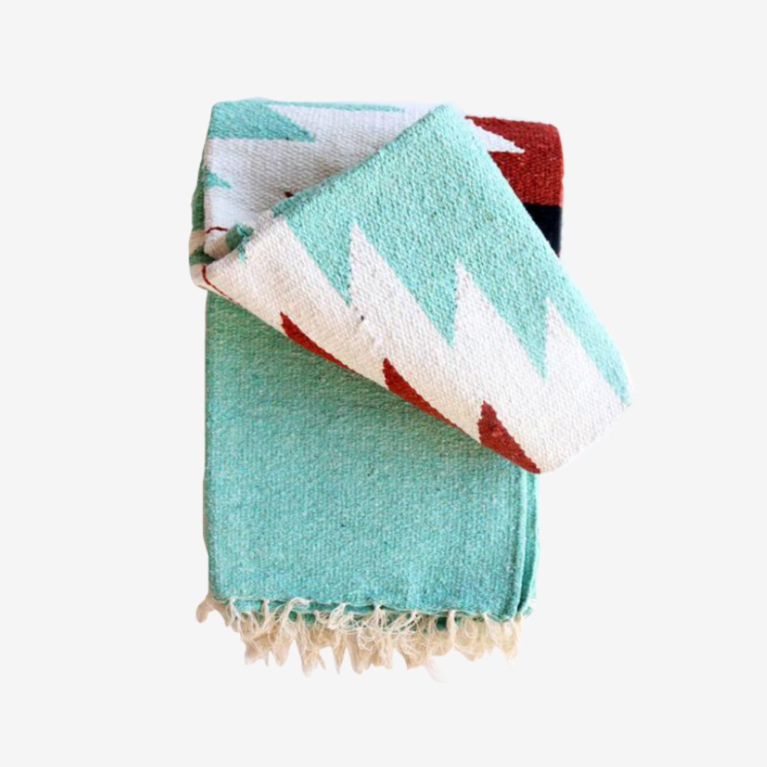 Tribe & True, handgewebte Tagesdecke, Dos Diamantes Collection, Turquoise Mint