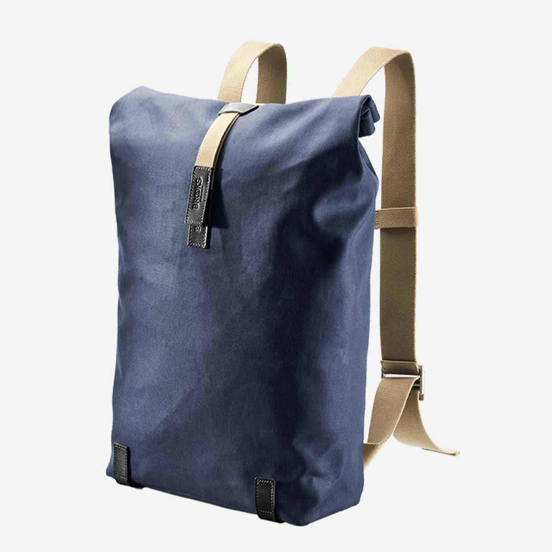 Brooks England, Pickwick Canvas, Rolltop Rucksack, 26 Liter darkblue