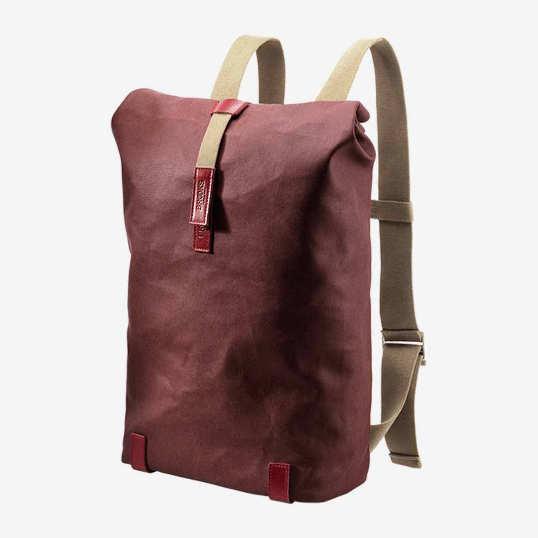 Brooks Pickwick Canvas Rucksack 26 Liter Dunkelrot