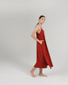 The Cala Slip Dress in Rust