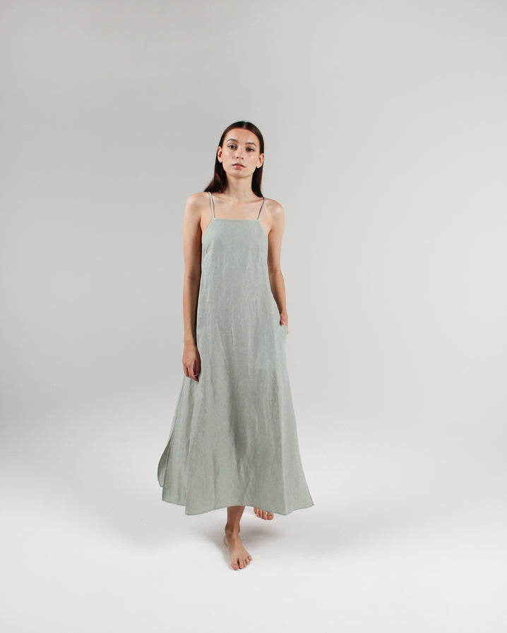 The Isla Slip Dress in Celadon