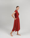 The Cap Sleeve Caftan Dress in Rust