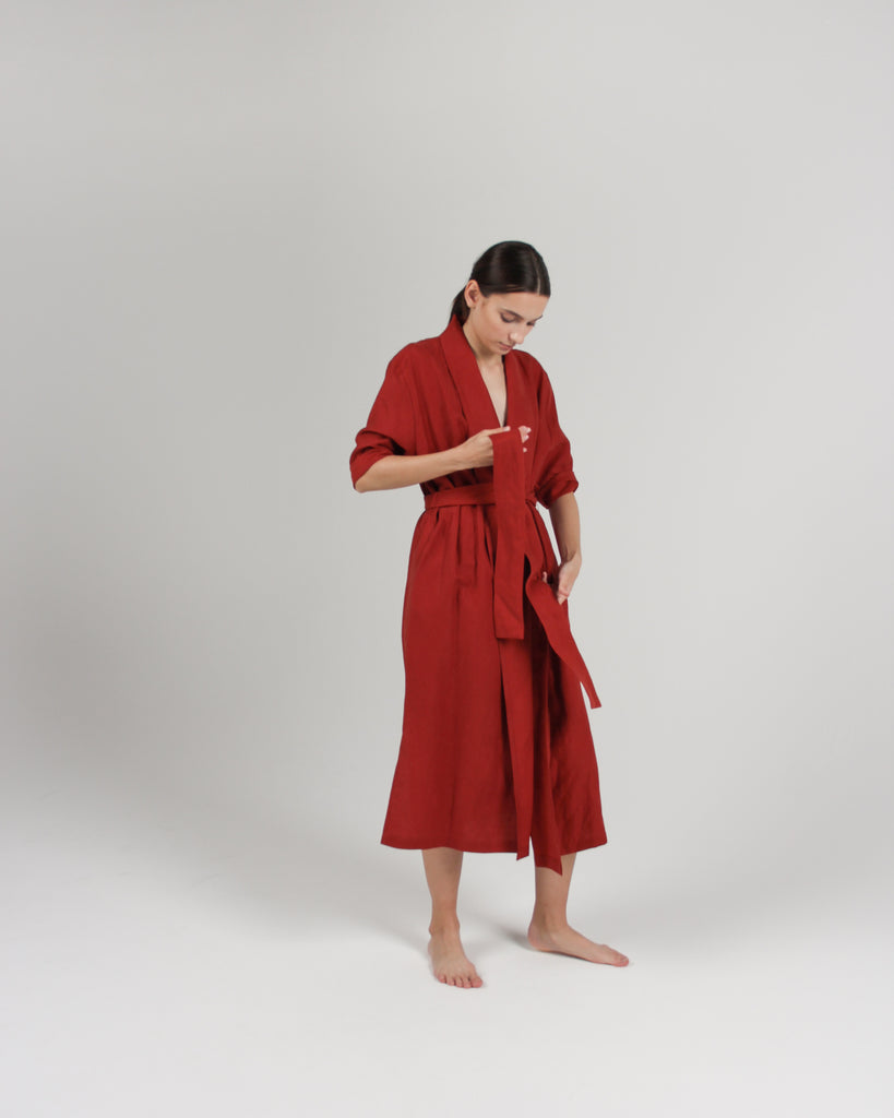 The Convertible Wrap Dress in Rust