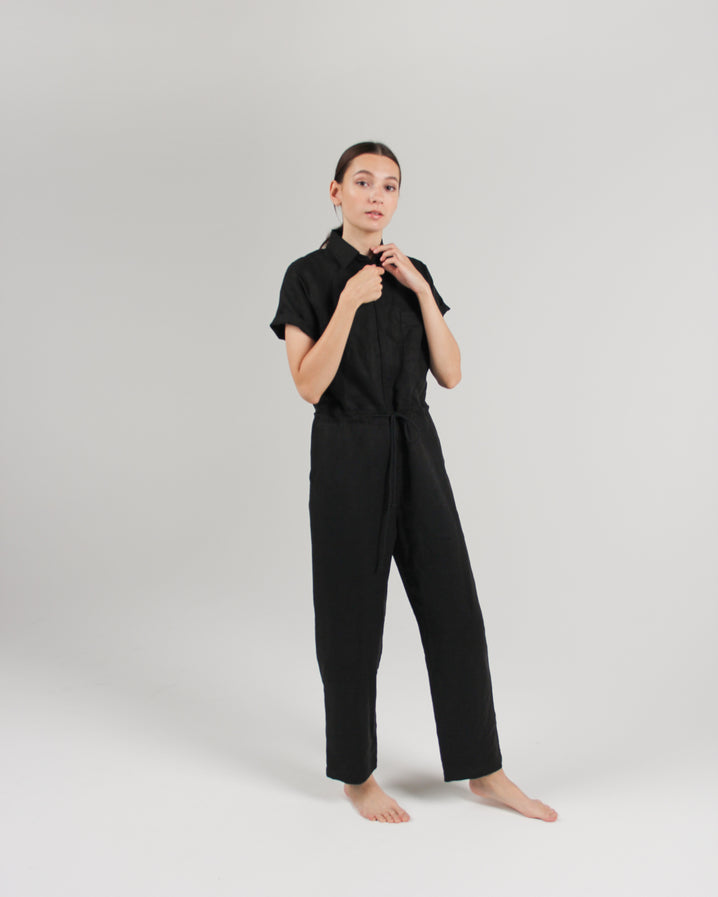The Flight Jumpsuit in Jet Black