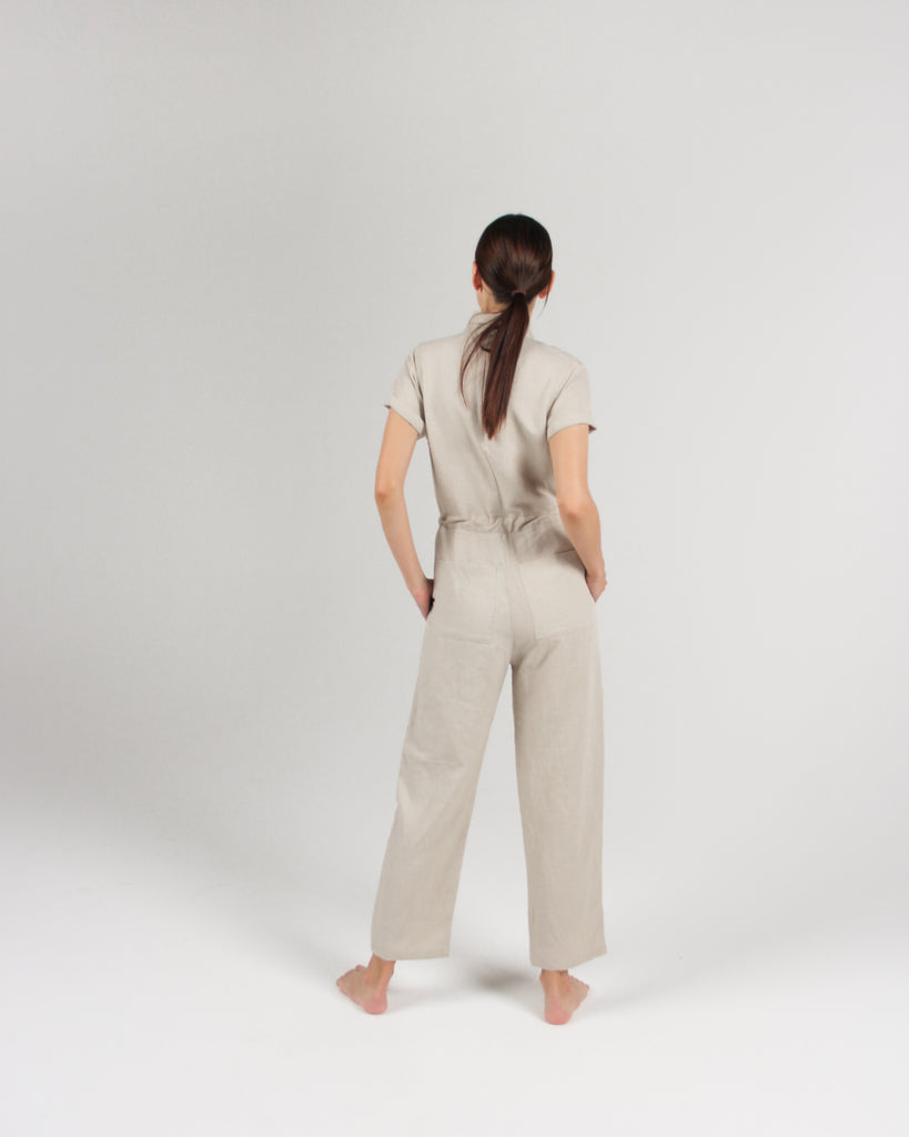 The Flight Jumpsuit in Bone