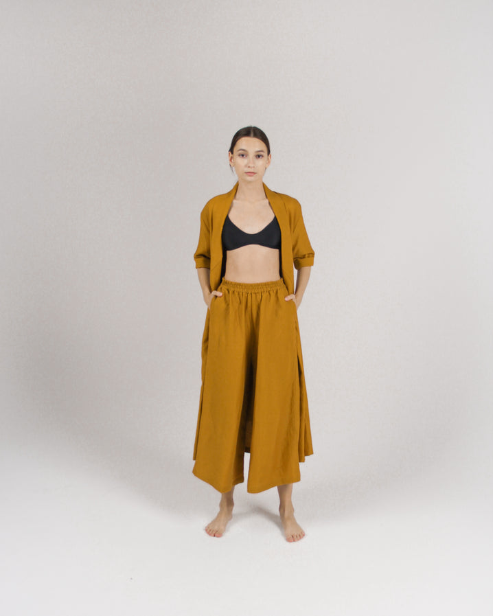 The Culotte in Mustard