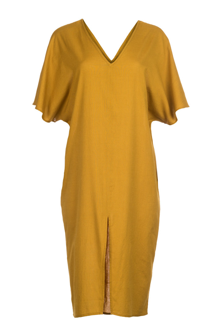 The Essential Caftan in Mustard