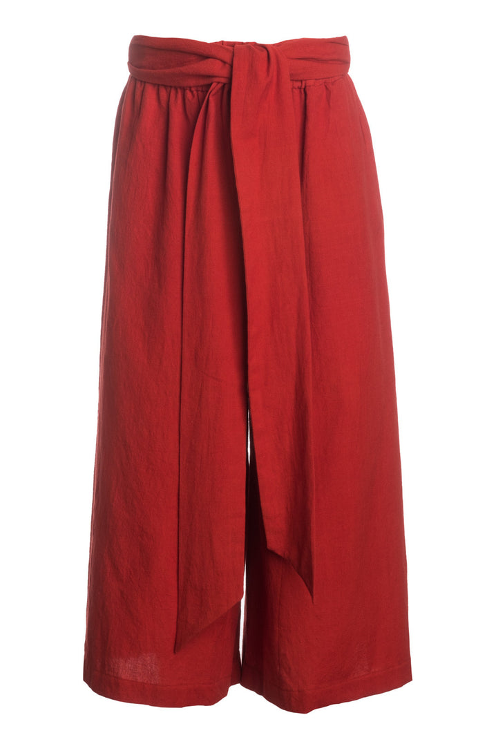 The Tie-Waist Culotte in Red