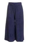 The Tie-Waist Culotte in Indigo