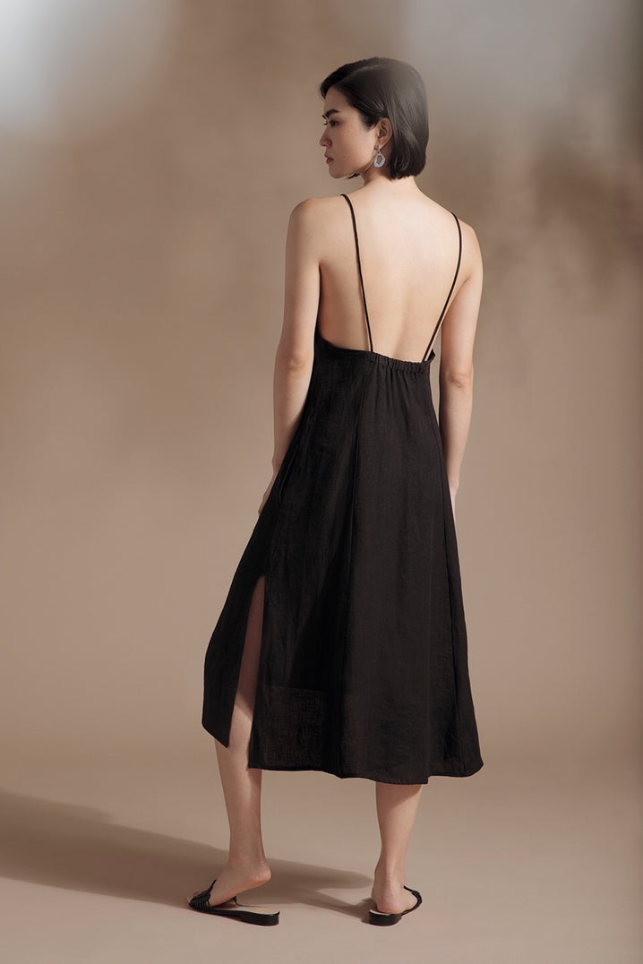 The Isla Dress in Black
