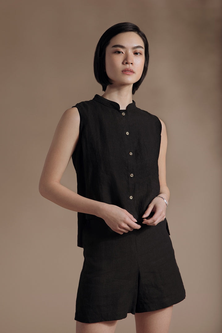 The Studio Sleeveless Top in Black