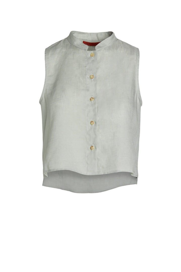 The Studio Sleeveless Top in Celadon