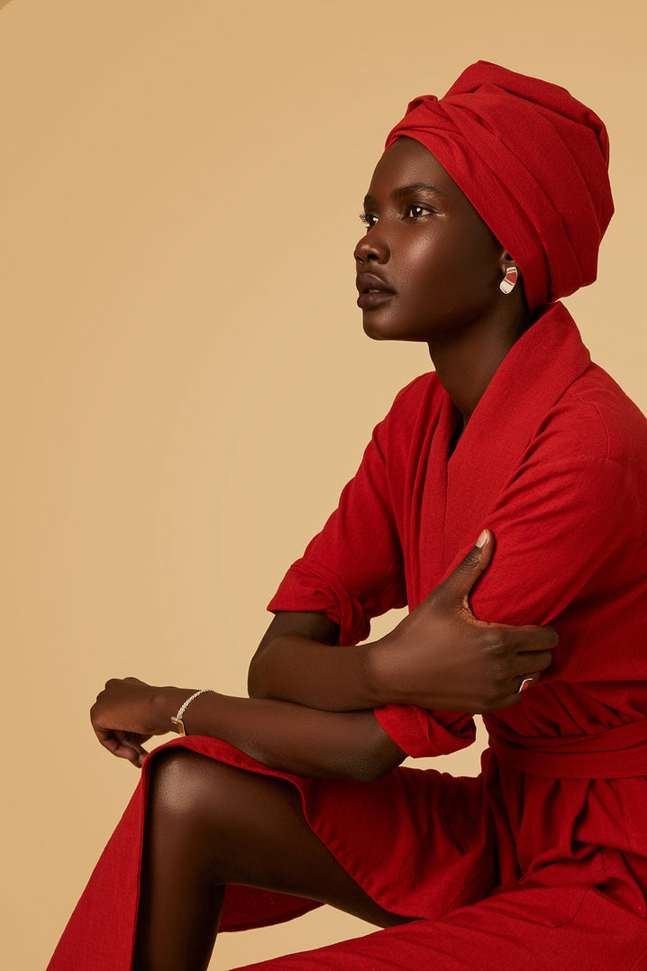 The Obi Wrap in Red