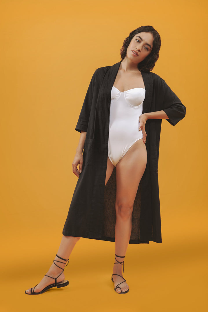 The Playa Robe in Black