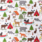 Toile coupon Camping - Coton