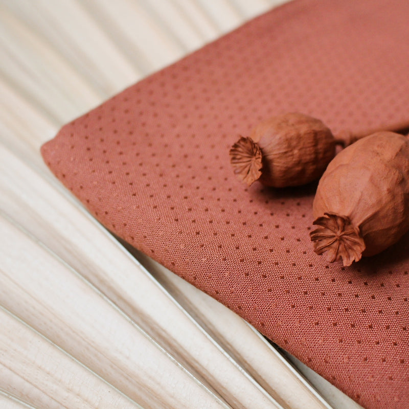 Dobby Chestnut - Viscose