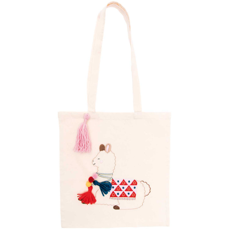 Kit broderie tote bag lama