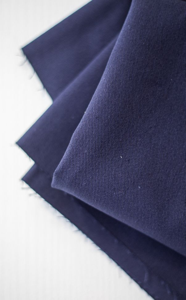 Coton lavé twill - Navy